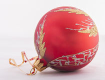 Red and gold christmas ball Royalty Free Stock Photography