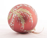 Red and gold christmas ball decoration Stock Image
