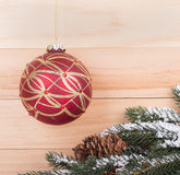 Red and Gold Christmas Ball Royalty Free Stock Photos