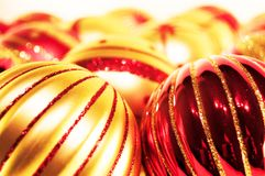 Red and gold christmas balls Stock Photography
