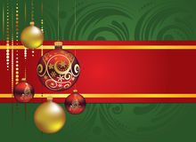 Red and Gold Christmas Balls Stock Photo