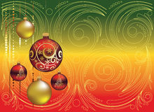Red and Gold Christmas Balls Royalty Free Stock Photo
