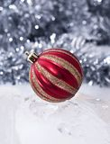Red & Gold Christmas Bauble Stock Images