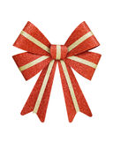 Red and Gold Christmas Bow Royalty Free Stock Images