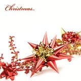 Red and gold christmas decoration Royalty Free Stock Photography