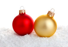 Red and gold christmas decoration Stock Photography