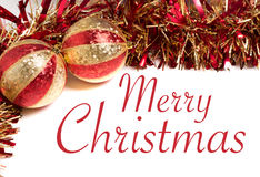 Red and Gold Christmas Decorations Royalty Free Stock Photography