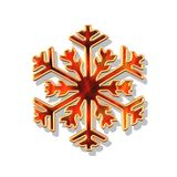 Red and gold Christmas flake Royalty Free Stock Photography