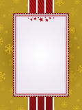 Red and gold christmas frame Stock Image