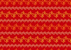 Red and gold Christmas, Indian, vector seamless pattern or background. A seamless vintage pattern with swirls. Stock Photo