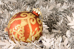 Red and gold christmas ornament Royalty Free Stock Photography