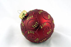 A red and gold christmas ornament Stock Photos