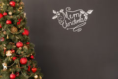 Red and gold Christmas tree Royalty Free Stock Images