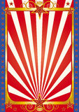 Red and gold circus background stock illustration