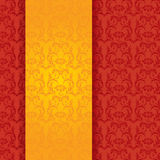 Red and gold classical oriental floral vertical banner Stock Photo