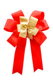Red and gold color bow Stock Photo
