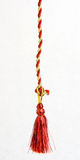 Red and Gold Cord. Red and gold gift wrapping cord with a red tassle stock photography
