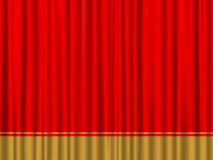 Red gold curtain Royalty Free Stock Image
