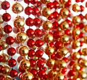 Red and gold decoration. Close up of red and gold decoration Stock Image