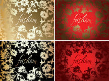 Red Gold Fashion Plate Background Royalty Free Stock Image
