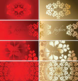 Red Gold  Fashion Plate Background Stock Photos