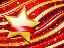 Red and gold festive background Stock Photo