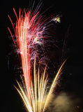 Red and Gold Fireworks Stock Image