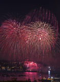 Red and Gold Fireworks Royalty Free Stock Photography