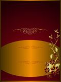 Red and Gold Floral Background Stock Photo