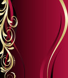 Red and gold floral background Royalty Free Stock Photography