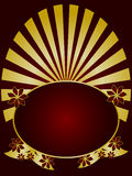 Red and Gold Floral Backround Royalty Free Stock Images