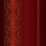Red gold floral vintage seamless pattern Stock Photo