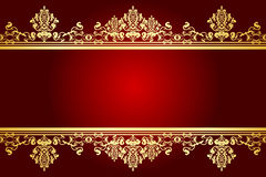 Red and gold frame Royalty Free Stock Photo