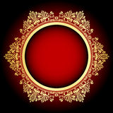 Red and gold frame Stock Photography