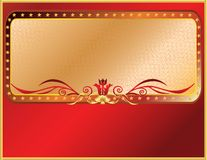 Red and gold frame Royalty Free Stock Image