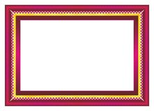 Red and Gold Frame. Certificate or diploma template with red and gold color, suitable for invitation, card, awward, thanks card, background, and other vector illustration