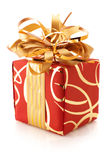 Red/gold gift Stock Photography