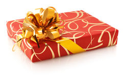 Red/gold gift Royalty Free Stock Photo