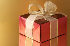 Red/gold gift Stock Photos