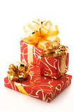 Red/gold gifts Royalty Free Stock Photo