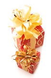 Red/gold gifts Stock Photography