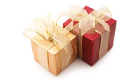 Red and gold gifts Stock Image