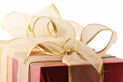 Red and gold gifts Royalty Free Stock Photos