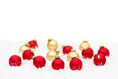 Red and Gold Glass Balls Stock Photography