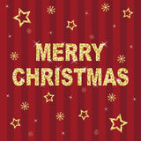 Red and gold glitter christmas royalty free illustration