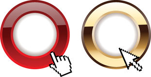 Red Gold Glow Rings Computer Cursors Royalty Free Stock Image