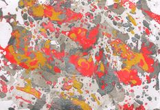 Red, gold, gray and white abstract hand painted background. Red, gold, gray and white abstract background Stock Images
