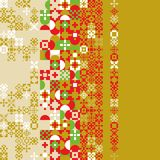 Red gold green abstract modern geometric background, pattern royalty free illustration