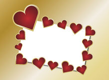Red and Gold Heart Card Royalty Free Stock Photo