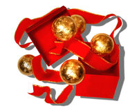 A Red and Gold Holiday Stock Photography